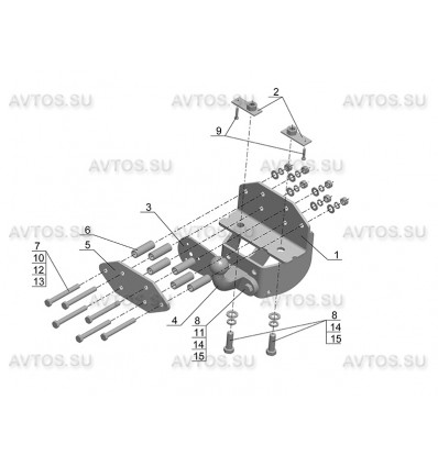 Фаркоп для TOYOTA LAND CRUISER (J200) с 2007 (AvtoS)